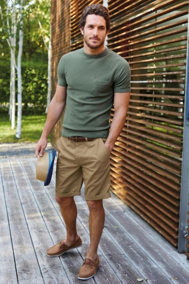 Man wearing t-shirt and shorts outside during summers