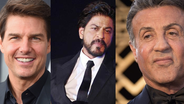 collage of Tom Cruise, Sylvester Stallone and Shahrukh Khan looking rich