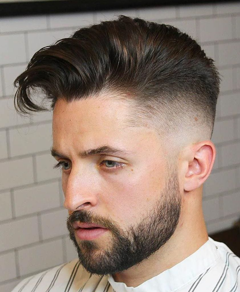 Sides cut short mens hairstyle