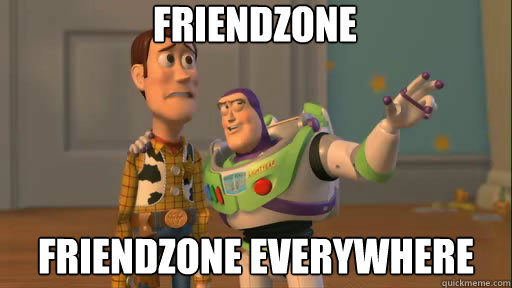 man explaining friend zone