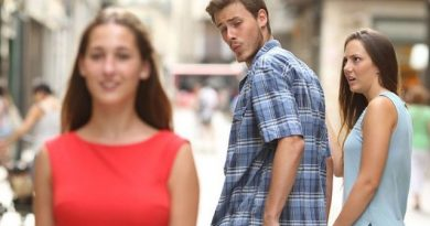 Man looking back at other Women