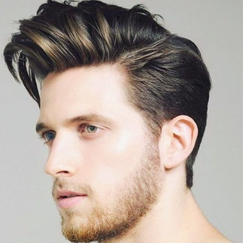 Man with quiff hairstyle
