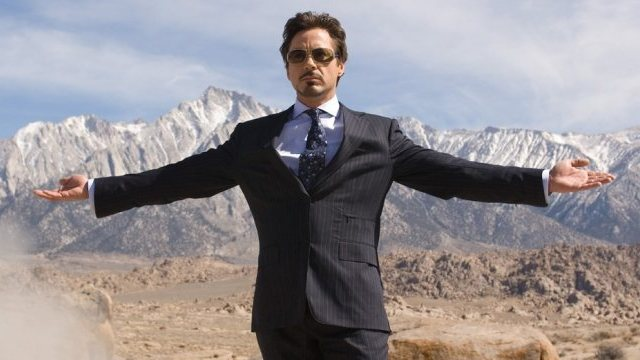 Robert Downey Jr. standing in confidence
