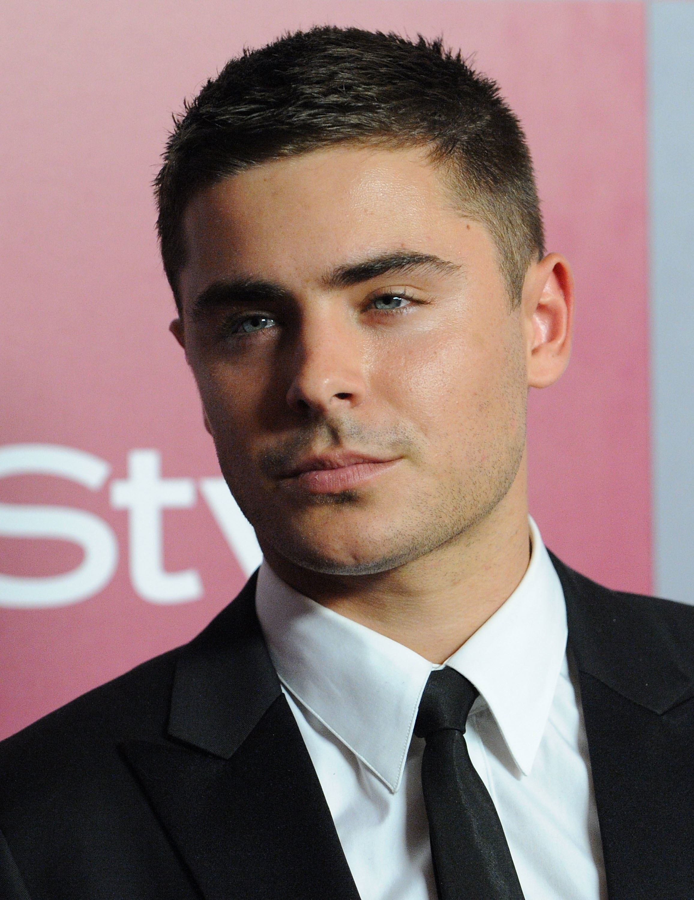 Zac Efron with buzz cut hairstyle