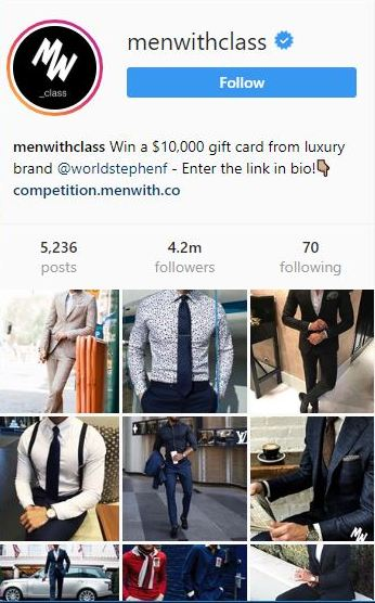 Menwithclass Instagram profile