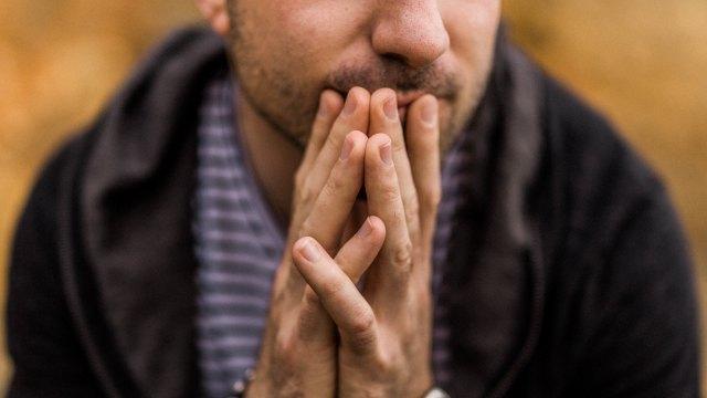 Man overthinking about something