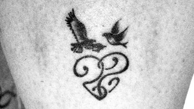 dove and eagle tattoo