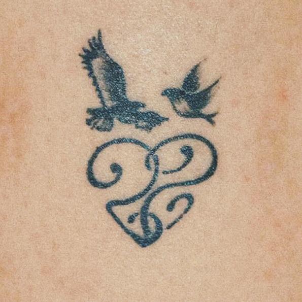 dove and eagle tattoo