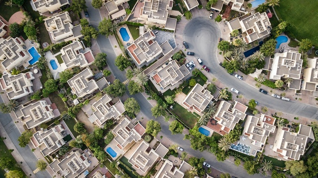 Ariel View of homes