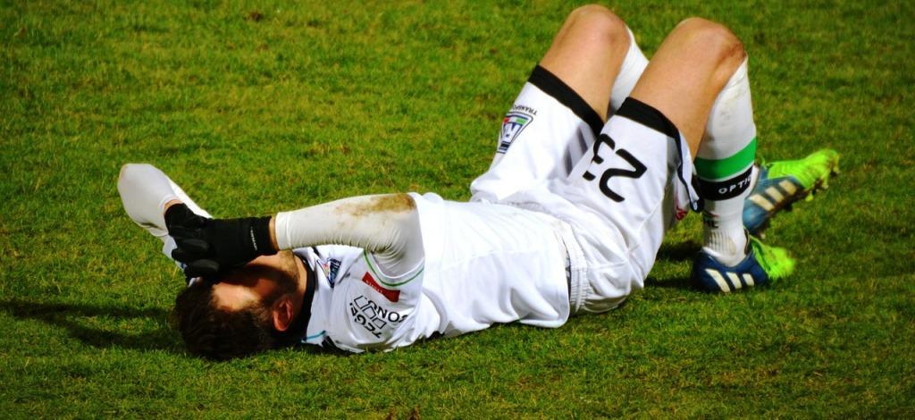 An injured sportsman