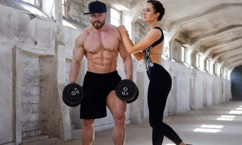 A male and female fitness model