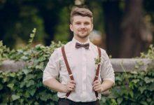 A guy wearing Suspenders