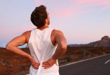 A guy with back pain after a car accident