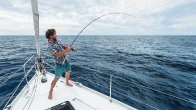 A guy doing Offshore Fishing