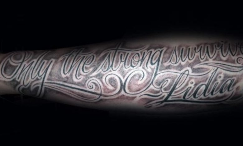 Only the Strong Survive Tattoo